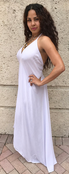 Long Dress Available in White and Black - FASHIONEVOLVER