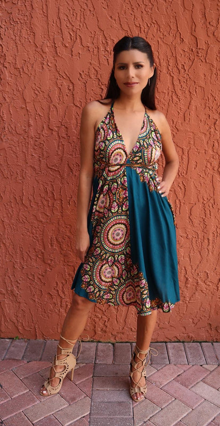Printed Short Dress