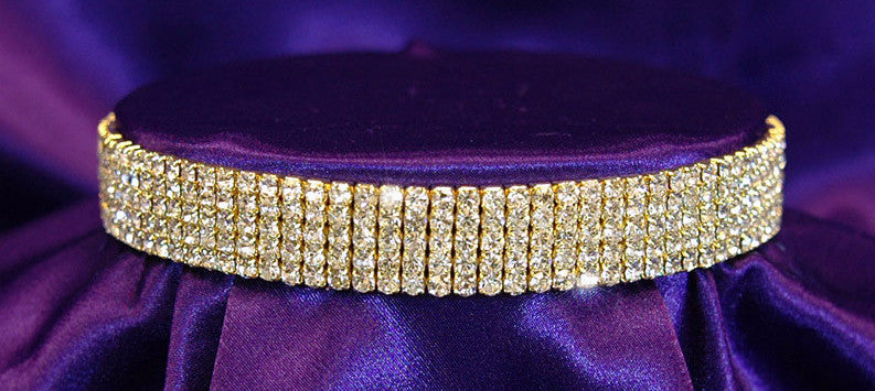 Level 2 Bling Baddie Gold Rhinestone Choker