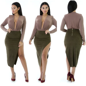 DEAL CLOSER Slit Midi Skirt
