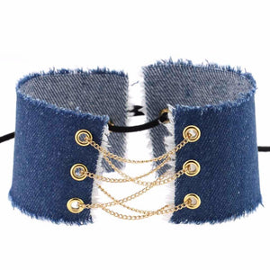 Jeans Gold Chain Choker