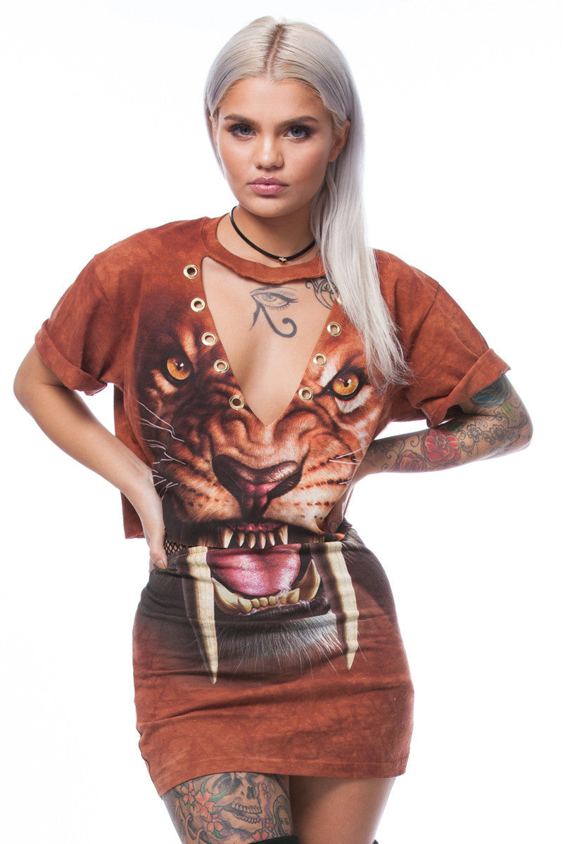 LIONESS Printed Suede Mini Set