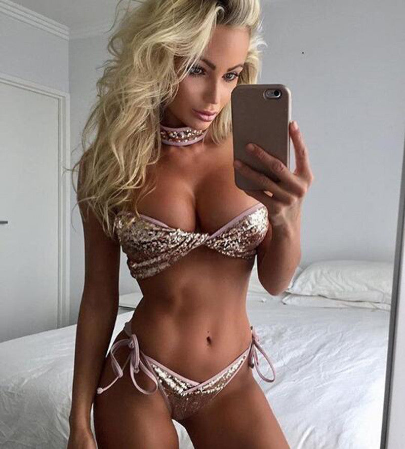 YOUTUBER Sequined Bikini