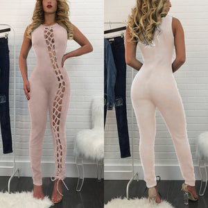 TRY ME Laced Maxi Jumpsuit