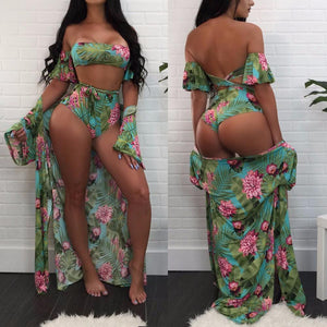 ALOHA 3 PIECE SET / Bikini / Beach Set