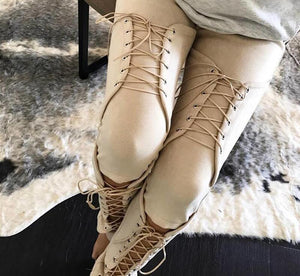SAGA Lace Up Suede Pants