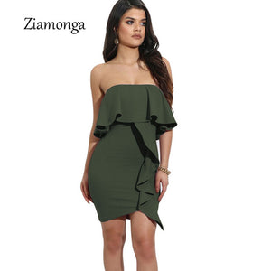 MAKALIA Ruffle Mini Dress
