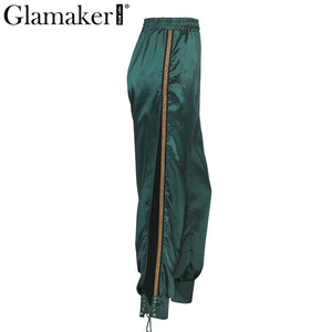 LEILA Satin Maxi Pants