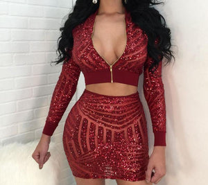 JLO Sequined Mini Set