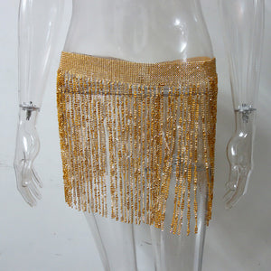 diamond mini skirt