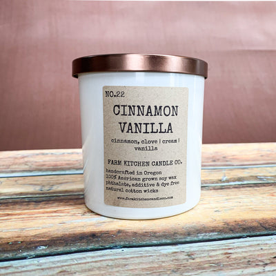 Cinnamon and Vanilla Soy Candle - Scrumptious Secrets