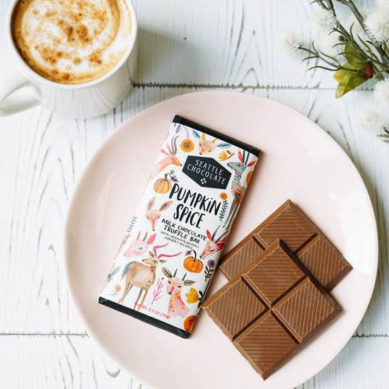 Pumpkin Spice Milk Chocolate Truffle Bar - Scrumptious Secrets