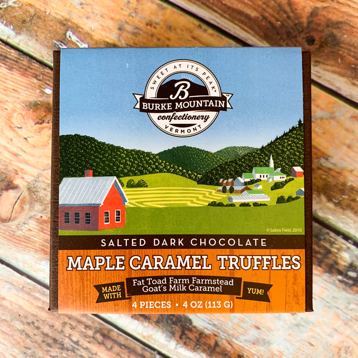 Salted Dark Chocolate Maple Caramel Truffles - Scrumptious Secrets