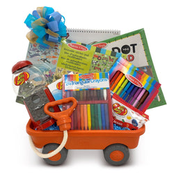 Wagon Full of Fun Boys Toy Gift Basket