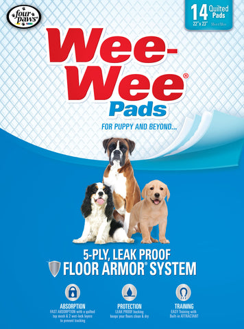 Four Paws Wee Wee Pads 14 Pack