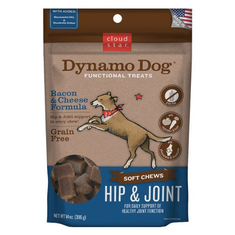 Cloud Star Dynamo Dog Hip And Joint Functional Treat Pouches, 14 Ounce