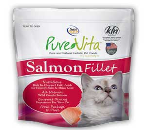 Pure Vita Salmon Fillet For Cats All Natural, Omega-3 Fatty Acids