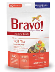 Bravo Freeze Dried Trail Mix Training Treat For Pets, 4 Ounce