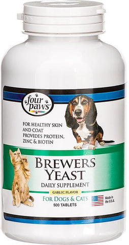 Four Paws Brewers Yeast With Garlic: 1000 Tabs