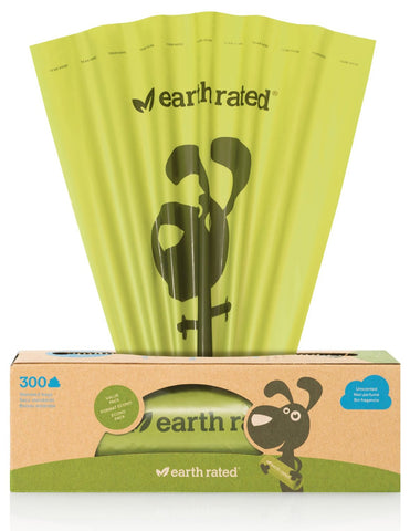 Earth Rated Unscented Dog Waste Bags 300 count For Pantries And Outdoor Waste Stations