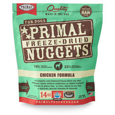 Primal Freeze Dried Chicken Nugget Dog Food, 14 oz