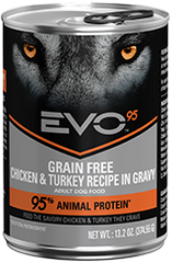 Evo 13OZ 95% Chicken/Turkey Dog Food