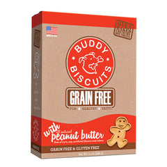 Buddy Biscuits Grain Free Oven Baked Dog Treats, Homestyle Peanut Putter, 14-oz