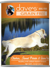 Dave's Grain Free™ Canned Dog Food Chicken, Sweet Potato & Quinoa Recipe
