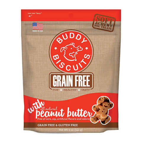 Buddy Biscuits Cloud Star Grain Free Oven Baked Dog Treats, Homestyle Peanut Putter, 5-oz