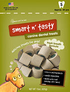 Emerald Pet 15-Ounce Smart N' Tasty Fresh Breath Pet Treat, Small