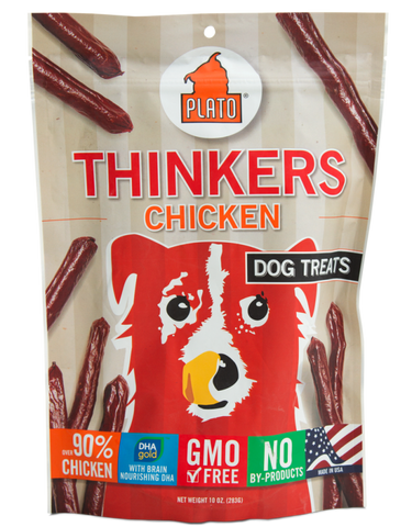 Plato Thinkers Chicken Dog Treats