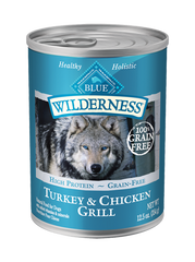 BLUE Wilderness® Turkey and Chicken Canned Dog Food