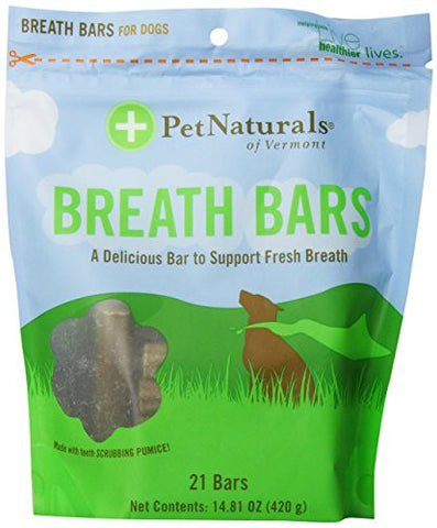 Pet Naturals of Vermont Breath Bars 21 count