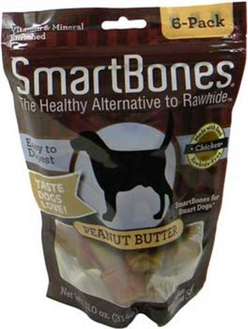 Smartbones Peanut Butter Dog Treat Size: Small/6-Pack