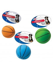 Ethical Products Vinyl Basketball Dog Toy, 3-Inch, Assorted Colors