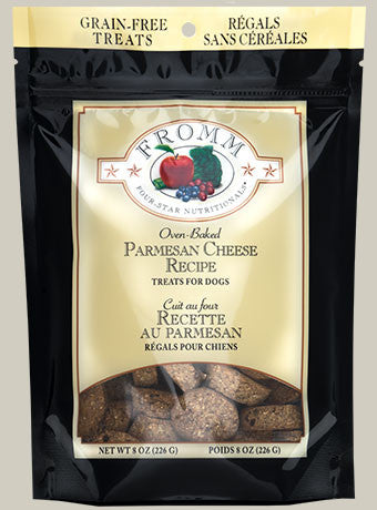 Fromm Four-Star Parmesan Cheese Grain-Free Dog Treats, 8oz