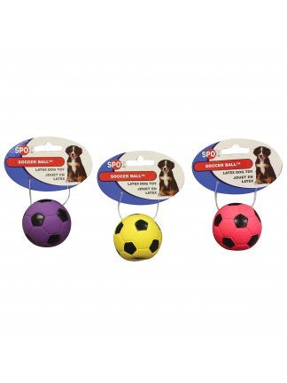 Ethical Products 2-Inch Latex Soccer Ball Dog Toy