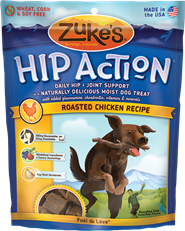 Zuke's Hip Action Hip & Joint Support Roasted Chicken Dog Treats, 6 oz