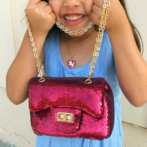 Kids Sequin handbag