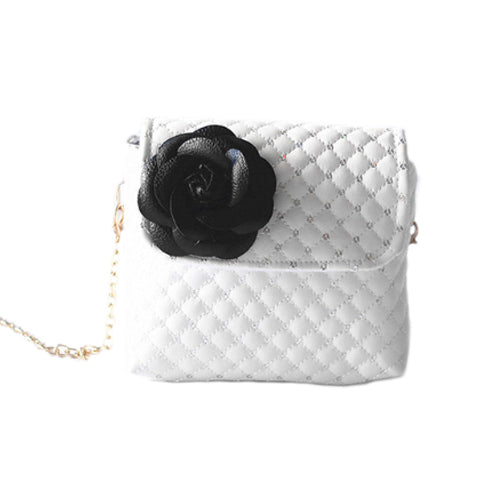 Black Flower Mini Purse