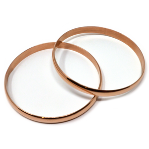 Bangle bracelets set of two (Rose Gold) - ZOMI GEMS