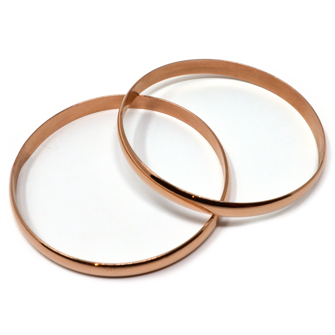 Bangle bracelets set of two (Rose Gold)