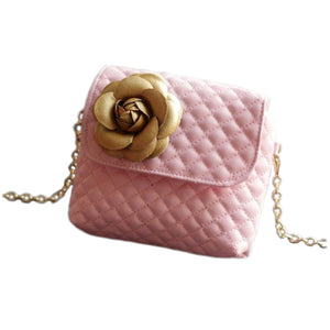 CROSSBODY QUILTED FLOWER MINI BAG