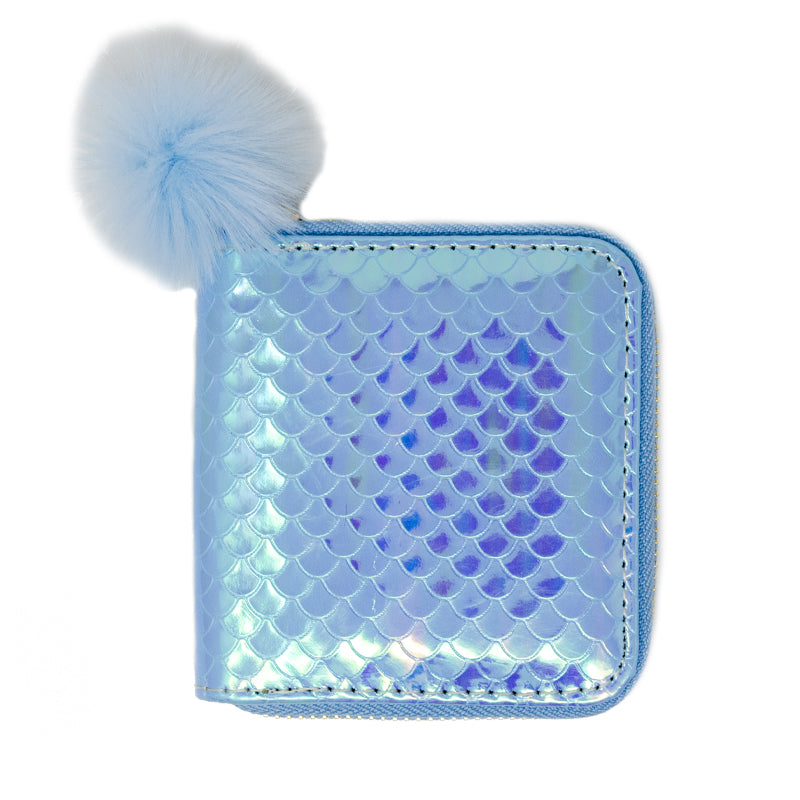 MERMAID SCALE WALLET - BLUE
