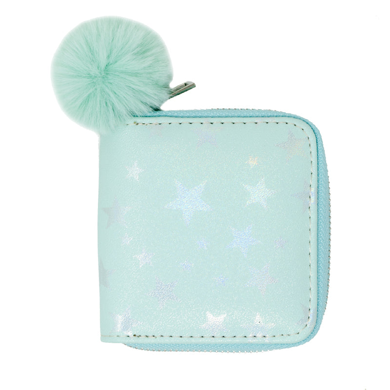 SHINY STAR WALLET - BLUE