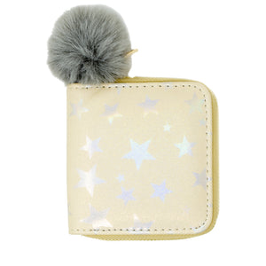 SHINY STAR WALLET - GOLD