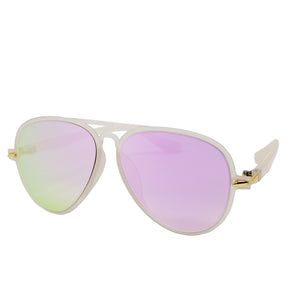 Light Pink Aviator Sunglasses