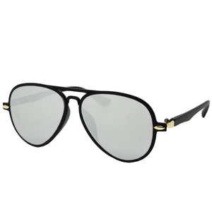 AVIATOR SUNGLASSES - BLACK/CHROME