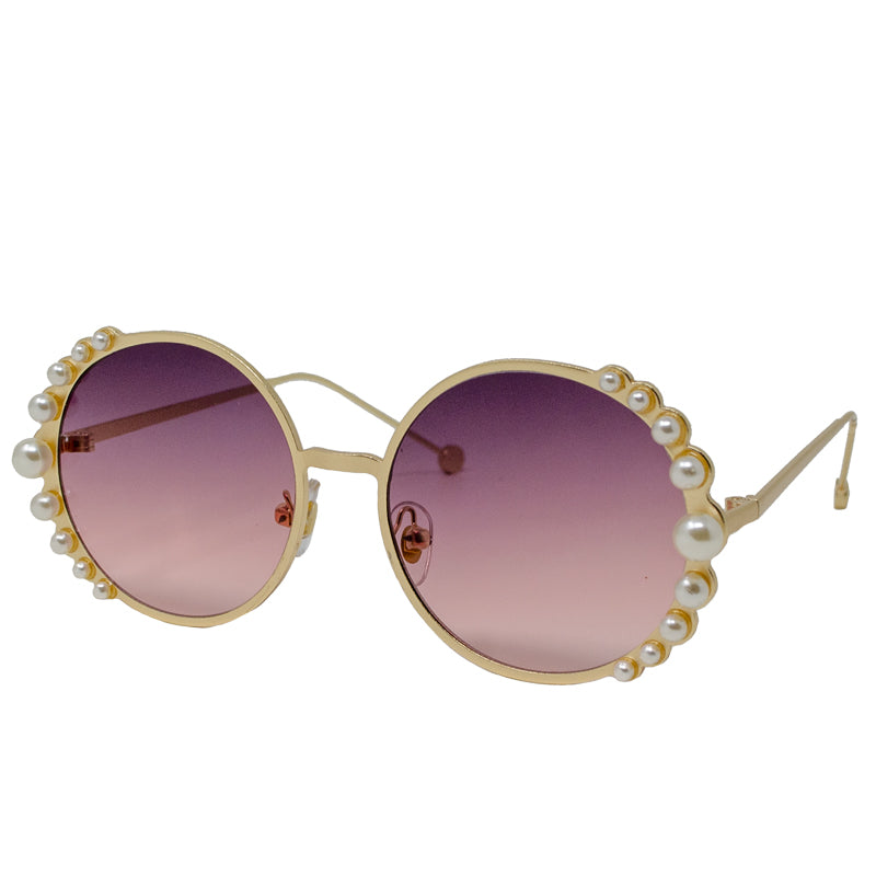 ROUND WITH PEARL SUNGLASSES