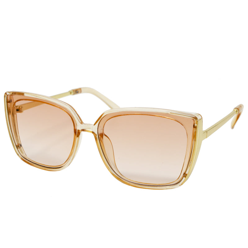 PINK SUNGLASSES - CLEAR/GOLD